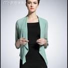 罩衫21春夏新款大碼雪紡開衫薄款短款小外套夏季披肩防曬衣女配裙子 快速出貨