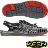 KEEN 1016899黑/深灰 Uneek男專業戶外護趾編織涼鞋 繩編鞋/水陸兩用鞋/運動健走鞋 東山戶外