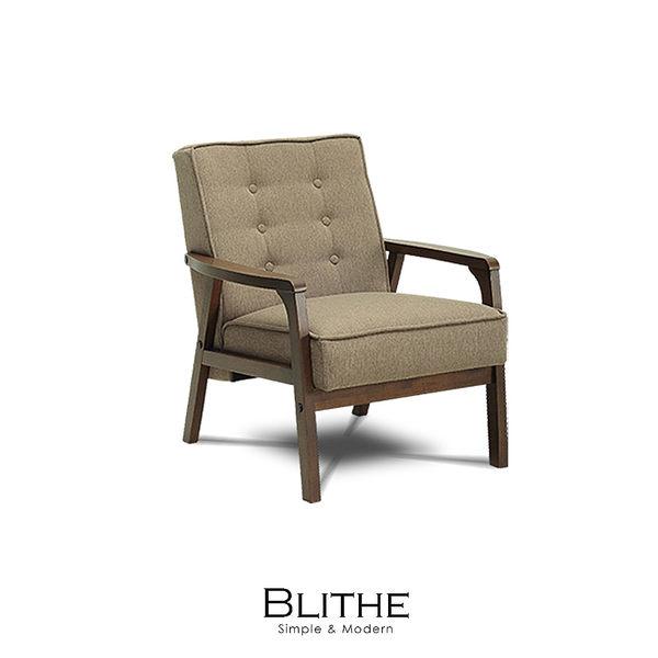 沙發 單人沙發 Blithe焦糖立方布單人沙發(LS/CAD-007-30單人焦糖布沙發)【DD House】時尚家居