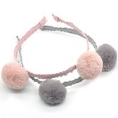韓系軟毛球造型彈性髮箍 兒童髮飾 髮箍