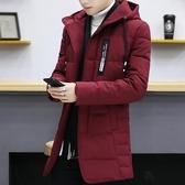 外套冬季新款棉衣男士修身中長款襖子青年加厚冬裝潮流羽絨棉服外套男