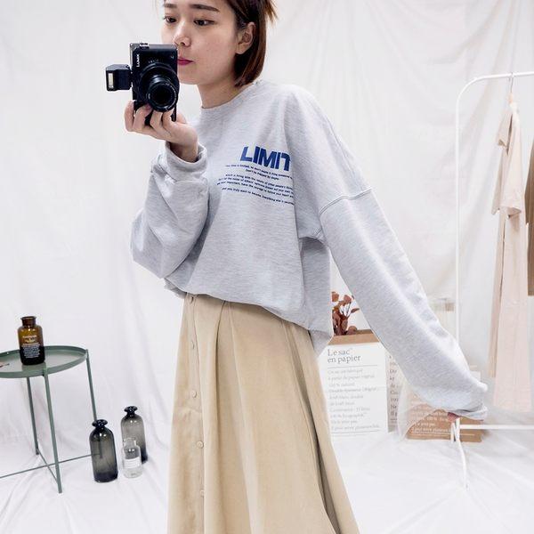 韓國女裝【C0464】 LIMIT字母長袖T恤 2色售 韓妞穿搭必備 阿華有事嗎