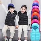 2020羽絨棉連帽馬甲秋冬新款小中大童男女童洋氣外穿親子背心 小山好物