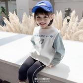 女童衛衣潮2020秋裝新款韓版兒童拼接假兩件小寶寶洋氣套頭上衣潮 快速出貨