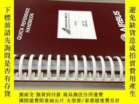 二手書博民逛書店飛機類:QUICK罕見REFERENCE HANDBOOK A321-231Y20113 中國國際航空公司 中
