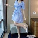 襯衫洋裝 女士襯衫夏季新款大碼輕熟風連身...