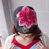 貝雷帽-花卉立體刺繡民族風女鴨舌帽9色73vt8[時尚巴黎]