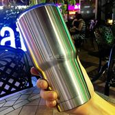 保溫杯 潮牌保溫杯咖啡杯韓版創意大容量車載水壺不銹鋼學生便攜隨 俏女孩