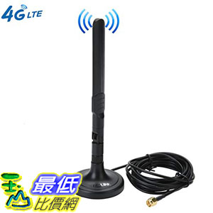 [8美國直購] 3G 4G LTE Antenna SMA Male Magnetic 3dBi GSM Antennas with Magnetic Sucker for Mobile Phone
