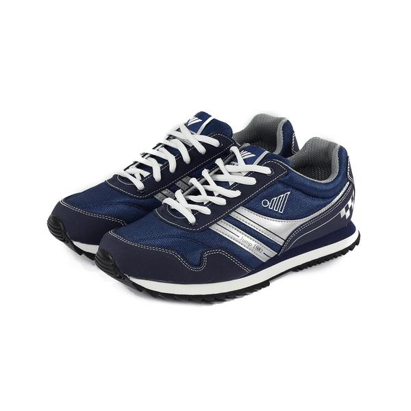 JUMP MIT輕量復古慢跑鞋 深藍 男款
