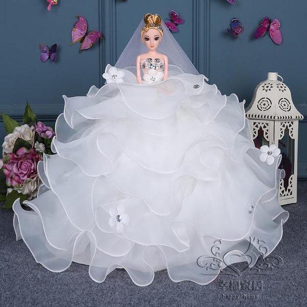 芭比娃娃婚紗3D真眼六一兒童節生日新年禮物玩具閨蜜新娘白雪公主女孩 8.8父親節