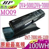 HP DV4-5000,MO09 電池(原廠最高規)- DV6-7000,DV6-8000,VE12 DV7T-7000,DV6T-8000 DV7-7000,MO06,W106