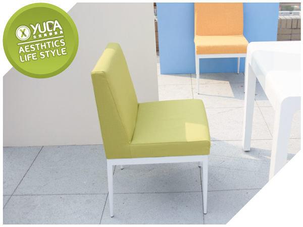 餐椅【YUDA】卡特白腳布餐椅【烤漆白腳/鐵腳】米蘭椅/伯朗椅 商業餐廳 西餐椅