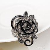 歐美時尚復古玫瑰花食指戒指女日韓版個性裝飾指環夸張大碼潮飾品 交換禮物