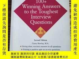 二手書博民逛書店100+Winning罕見Answees to the Toughest Interview Questions奇