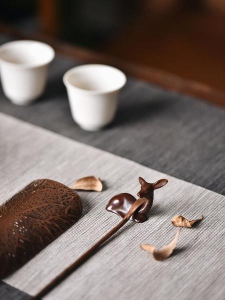 手工銅臥鹿茶寵創意茶玩擺件禪意可養復古茶臺個性精品茶道零配件