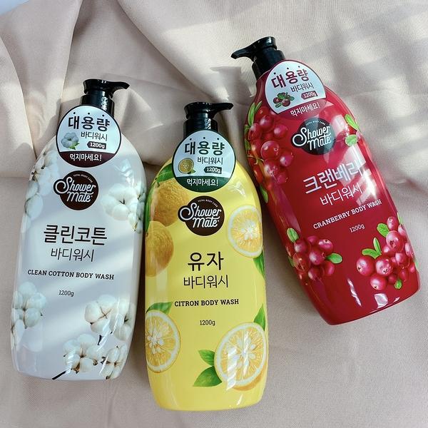韓國 Shower MATE 微風如沐 果香沐浴露 黃金柚 棉花籽 蔓越莓 1200ml 沐浴乳