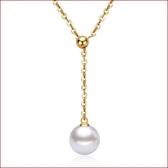 可調節珍珠吊墜項鏈 黃金項飾珍珠項鏈s148