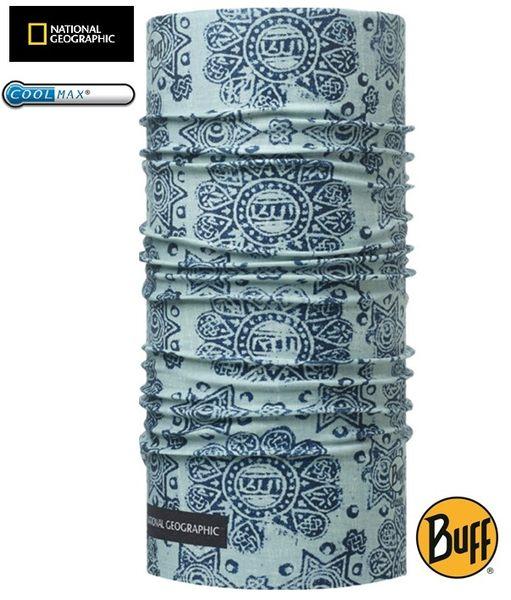 丹大戶外【BUFF】西班牙魔術頭巾 藍色印象 國家地理頻道 coolmax抗UV頭巾 BF111527-789