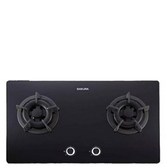 《修易生活館》櫻花 G2522 GB 黑色 二口小面板易清檯面爐 (不含安裝費用)