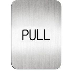 迪多Deflect-o 鋁質方形貼牌-英文PULL拉指示 611310S