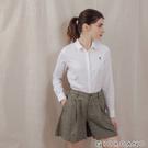 【GIORDANO】女裝四季百搭彈力牛津紡襯衫 - 03 白