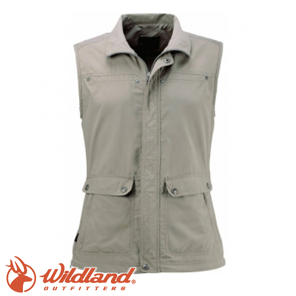 【Wildland 荒野 中性 透氣抗UV休閒背心《卡其》】W1707/吸濕快乾/輕薄透氣/抗UV30+