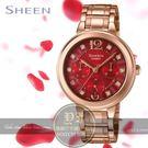 CASIO日本卡西歐Sheen經典優雅晶鑽日曆腕錶SHE-3048PG-4A公司貨/少女時代/桂綸鎂