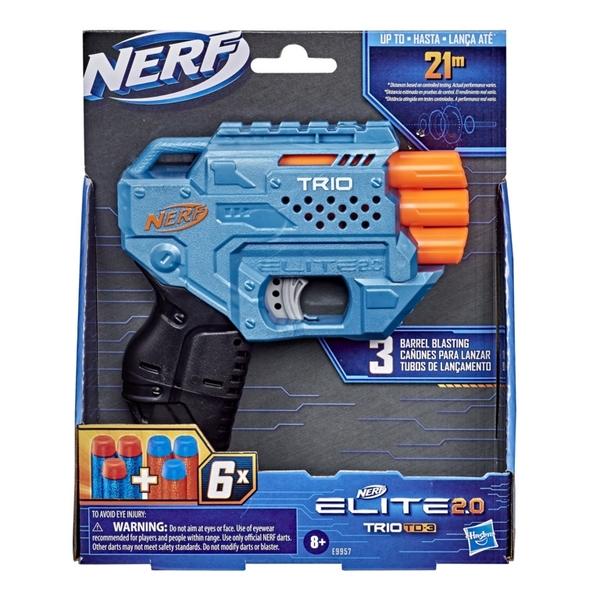 NERF樂活射擊遊戲 ELITE 2.0 菁英系列 TRID TD-3 三重奏 TOYeGO 玩具e哥
