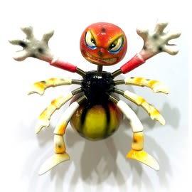 【收藏天地】創意小物*海洋生物冰箱貼-動感蜘蛛 / 家飾 送禮 趣味 兒童