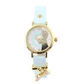 【Disney】冰雪奇緣 皮製錶帶兒童錶-粉嫩藍/FR-3K2467U-001BE/原廠授權享一年保固
