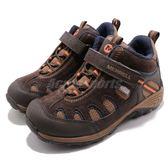 Merrell 戶外鞋 Chameleon 7 MID Access Waterproof 咖啡 深藍 健行 登山鞋 童鞋 中童鞋【PUMP306】 MC53649
