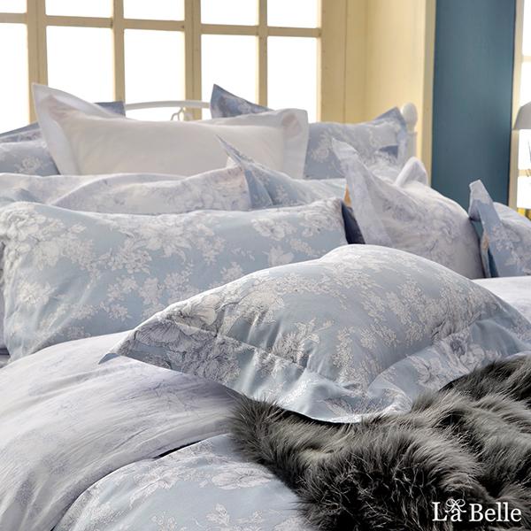 義大利La Belle《漫花飛舞》特大純棉防蹣抗菌吸濕排汗兩用被床包組