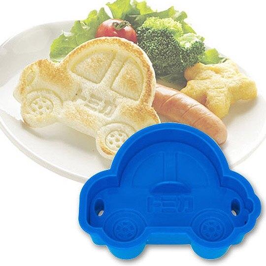 小禮堂 TOMICA小汽車 日製 車子造型吐司壓模 餅乾模具 三明治壓模 (深藍) 4973307-11166