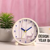 鬧鐘  靜音床頭創意鐘表個性學生電子鐘藝術小鬧鐘迷你臥室