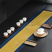 手繪防水茶席麻布禪意布藝桌旗中式茶藝茶臺桌布茶墊定做【聚寶屋】