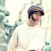 復古海軍帽 時尚帥氣情侶平頂帽 貝雷帽 米蘭shoe