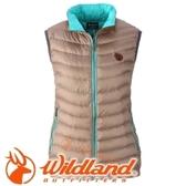 【Wildland 荒野 女款 700FP輕量羽絨背心 黃卡其】 0A32171/連帽外套/羽絨外套/保暖外套