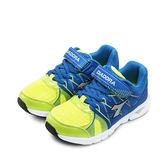LIKA夢 DIADORA 迪亞多那 輕量4E寬楦慢跑鞋 奇幻空間系列 藍螢綠 5686 中童