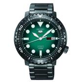 SEIKO 精工經典 新款盾牌五號潛水型機械錶 4R36-06N0SD(SRPC65J1) 綠面X黑鐵