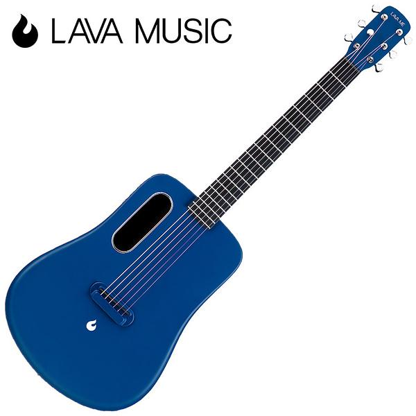 LAVA ME2 拿火吉他-36吋旅行吉他/碳纖維材質/插電加震款/藍色