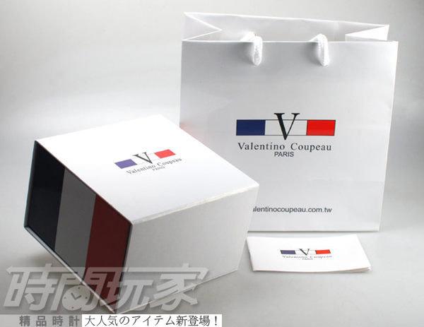 valentino coupeau范倫鐵諾 方圓數字時尚錶 玫瑰金電鍍 防水手錶 真皮 玫瑰金x咖啡 女錶 V61601玫咖小