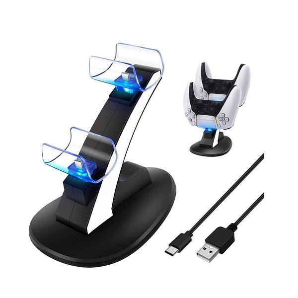 [2美國直購] Dual Charge PS5控制器充電器  Dual USB Fast Charging Station & LED Indicator