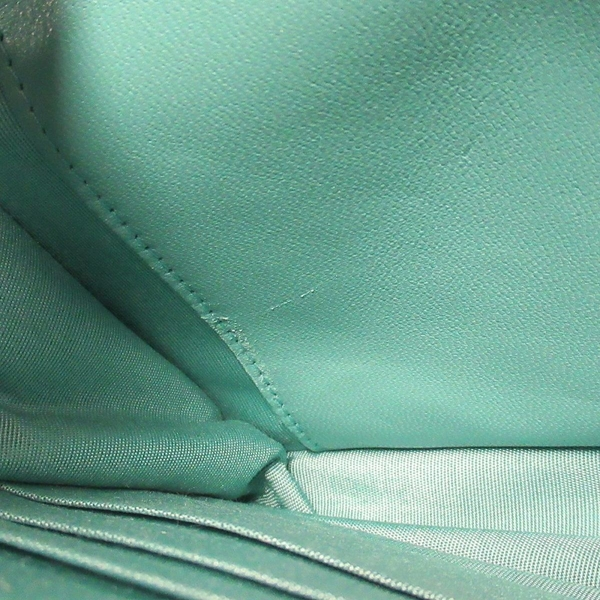 CHANEL 香奈兒 藍綠色菱格紋牛皮復古金釦斜背包 Boy Chanel WOC【BRAND OFF】