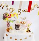 【韓風童品】英文字母燙金拉花   生日派對佈置   生日拉花裝飾  生日快樂橫幅裝飾  拍照背景