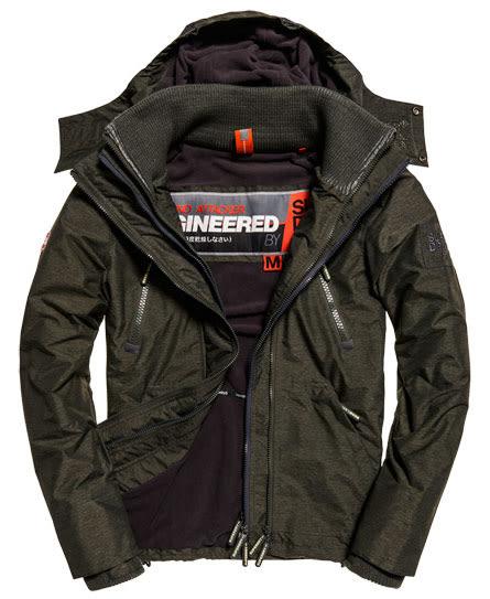 SUPERDRY 極度乾燥 男生Artic Wind Attacker 當季 現貨 風衣 夾克 外套 卡其灰色/岩石色【美國麋鹿】