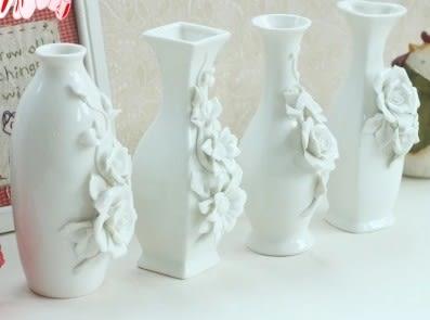 [協貿國際]手工立體花陶瓷小花瓶單個價