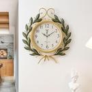 掛鐘 藝術品美式復古創意時尚鐘表時鐘掛鐘...
