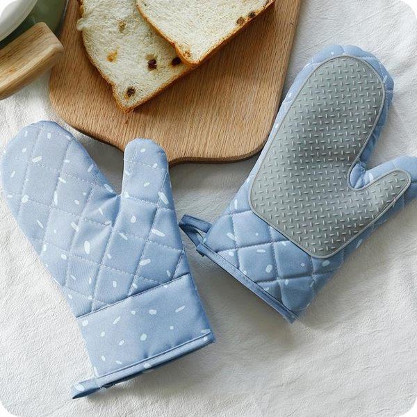 優思居 微波爐烤箱專用防燙手套 家用廚房耐高溫布藝加厚隔熱手套