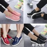 韓國淺口雨鞋女時尚成人低筒短筒防滑防水鞋廚房工作膠鞋情侶夏季『摩登大道』